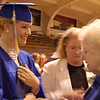 Record-Eagle/Sarah Brower<br /> Following the ceremony, Anna Antinozzi is congratulated by family.