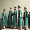 Record-Eagle/ Keith King<br /> Traverse City West Senior High School seniors wait in line before their names are called to accept their diplomas Saturday, June 12, 2010 during the Traverse City West graduation ceremony at Kresge Auditorium.
