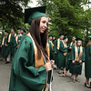 "Record-Eagle/ Keith King<br /> Kristina Zywicki, 18, of Traverse City, waits to proceed into Kresge Auditorium at the Interlochen Center for the Arts Saturday, June 12, 2010 for the beginning of the Traverse City West Senior High School graduation ceremony. Alphabetically, Zywicki is the final student of the Traverse City West Class of 2010 to receive a diploma. ""I get a standing ovation,"" she said."