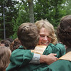 Record-Eagle/ Keith King<br /> Levi Norris hugs a classmate Saturday, June 12, 2010 after the Traverse City West Senior High School graduation ceremony at Kresge Auditorium.