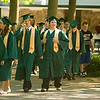 Record-Eagle/Jan-Michael Stump<br /> Traverse City West High School seniors walk to their graduation Saturday at the Interlochen Center for the Arts.