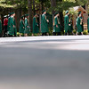 Record-Eagle/Jan-Michael Stump<br /> Traverse City West seniors process the Kresge Auditorium for Sunday's commencement at the Interlochen Center for the Arts.