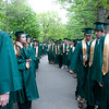 Record-Eagle/Douglas Tesner<br /> Traverse City West Senior High School students line up before the beginning of the commencement ceremony at Kresge Auditorium on the Campus of Interlochen Center for the Arts. More than 460 students graduated on Saturday.