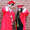 Andrew Stankiewicz and Ankita Bhagat pose for a photo beforeTyngsboro High graduation. (SUN/Julia Malakie)