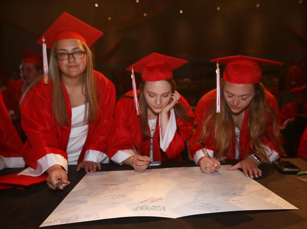 . Tyngsboro High graduation. (SUN/Julia Malakie)
