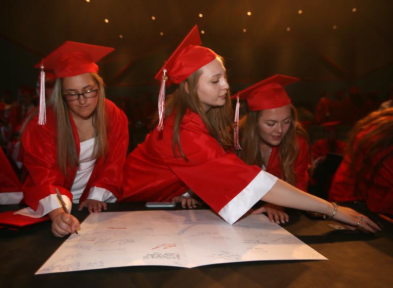 Tyngsboro High graduation. (SUN/Julia Malakie)