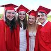 From left, Terryn Fraser-Mines, Lizzie Storry, FaithMary Harding and Joseph Manzo, before Tyngsboro High graduation. (SUN/Julia Malakie)