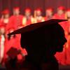 Seniors gather in the auditorium beforeTyngsboro High graduation. (SUN/Julia Malakie)