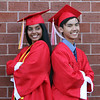 Ankita Bhagat and Peter Lam, before Tyngsboro High graduation. (SUN/Julia Malakie)