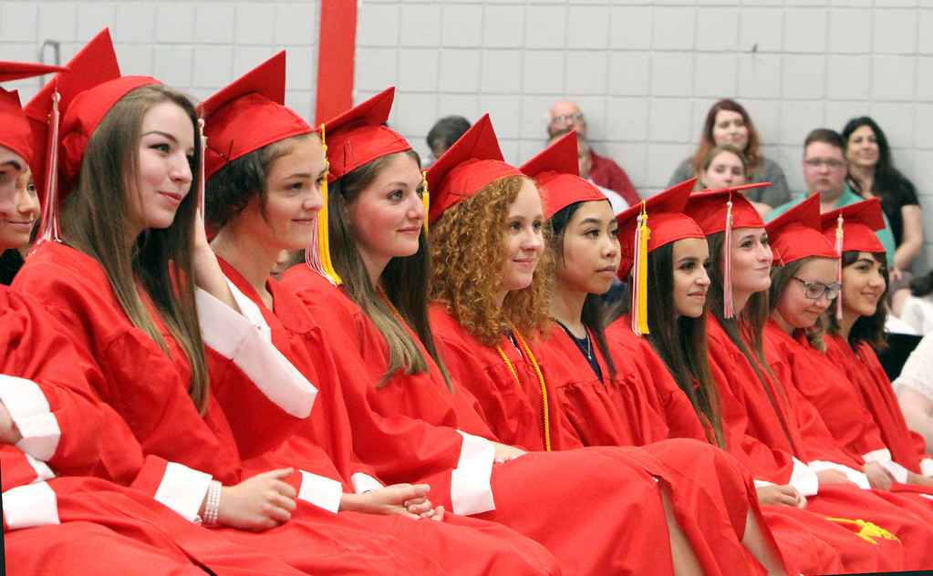 . Tyngsboro High graduation. (SUN/Julia Malakie)