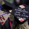 Nursing graduate caps at UMass Lowell Commencement. (SUN/Julia Malakie)