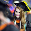 UMass Lowell Commencement. Brittany McDonough of Stoneham. (SUN/Julia Malakie)