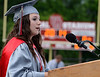 Upper Dublin High School Class of 2014 member Jenna Mandel gives the Greeting  during their Commencement Ceremony at the school on Tuesday evening June 10,2014. Photo by Mark C Psoras/The Reporter