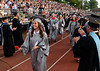 Upper Dublin High School Class of 2014 members are applauded as they march into the stadium for their Commencement Ceremony at the school on Tuesday evening June 10,2014. Photo by Mark C Psoras/The Reporter