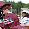 Westford Academy graduation. Gareth Owens and Medha Palnati are announced as recipients of the Most Worthy Representatives for the Class of 2018. (SUN/Julia Malakie)