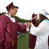 Westford Academy graduation. Class president Ian Kim congratulates graduates. (SUN/Julia Malakie)