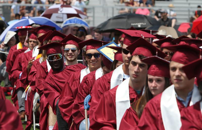 Westford Academy graduation.  SUN/Julia Malakie