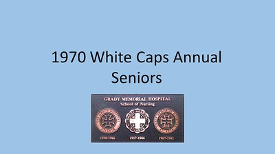 1970 White Caps Annual Seniors