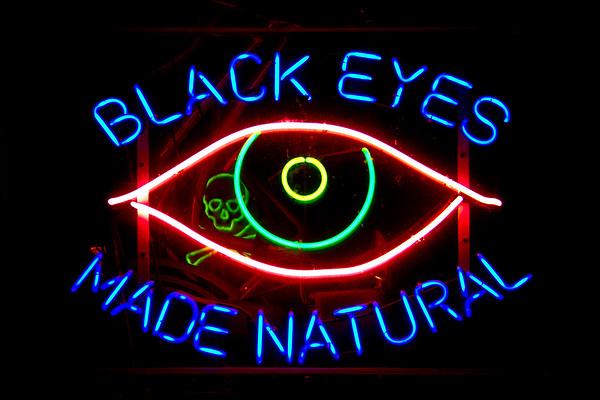 Black Eyes Neon Sign