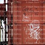 Grafitti, Railroad Train cars, Lafayette, La 062517 001