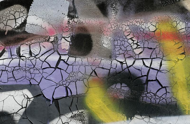 Purple flakes