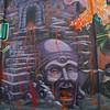 Aztec graffitti scene.