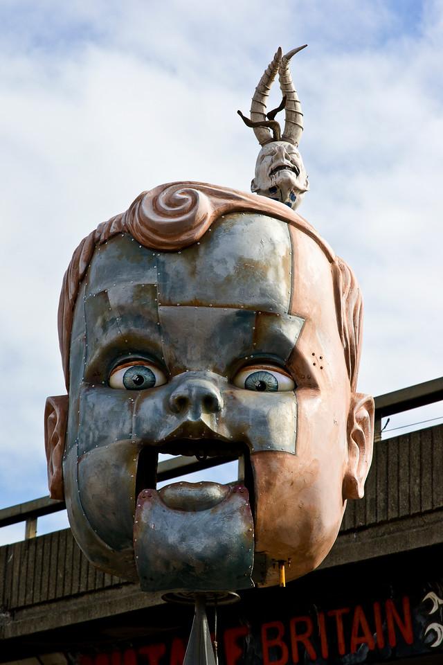 Boy;s Head Sculpture