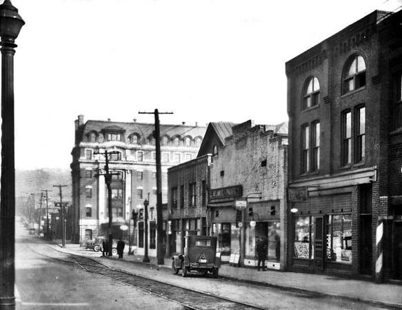 Street Scene Main Street, Grafton, W. Va.<br /> Date 1928