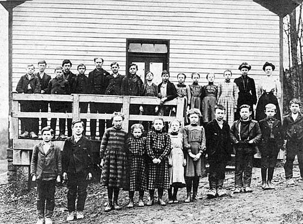 Maple Run School, Taylor County - 1900