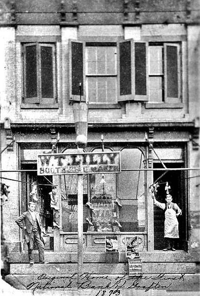 W. T. Lilly Shoe Shop Grafton, WV 1873.