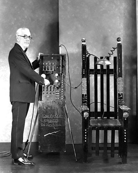 Electric Chair Demonstration, Grafton, W. Va.