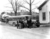 Boys loading into a Taylor county school bus, Grafton, W. Va.