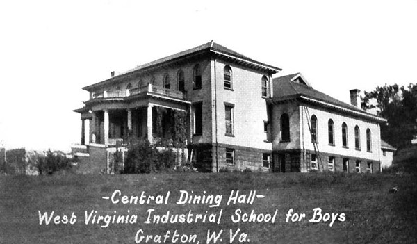 Central Dining Hall at West Virginia Industrial School for Boys in Grafton, Taylor County, W. Va. 1927