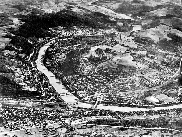 Aerial View of Grafton, W. Va.