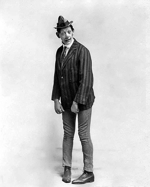 A portrait of an unidentified clown in Grafton, West Virginia.