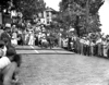 Crowd gathered to watch a Soap Box Derby race in Grafton, West Virginia.