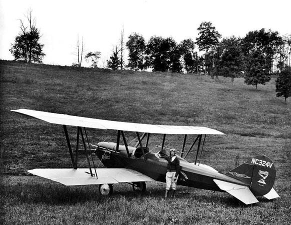 Pilot B. B. Covey and His Plane, Grafton, W. Va.