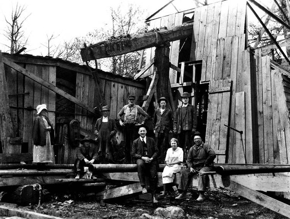 Oil Men and Family Members at an Oil Well, Grafton, W. Va.<br /> Date 1925