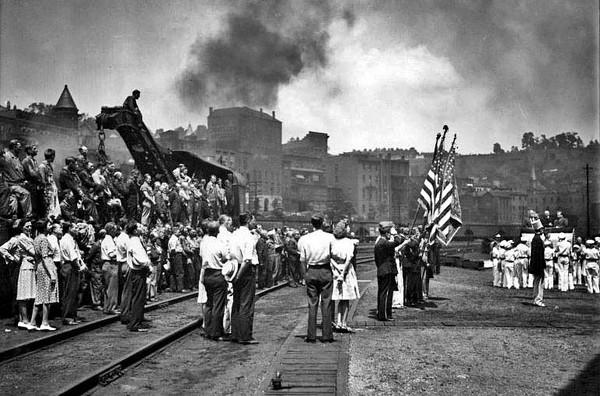 Ceremony at Baltimore and Ohio Railroad Yard, Grafton, W. Va.