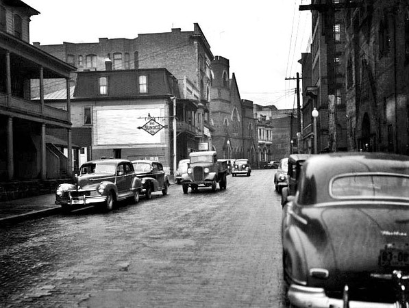 Street Scene in Grafton, W. Va.<br /> Date ca. 1940