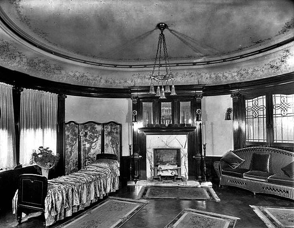 Room with a Fireplace in the Bartlett Home, Grafton, W. Va.