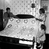Quilt Made by Mrs. Ann McDonald, Taylor County, W. Va - 1950's
