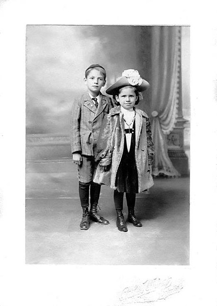 Portrait of Unidentified Children, Grafton, W. Va.<br /> Arthur Wright Studio, Grafton, WV