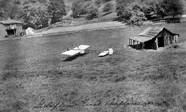 Bleriot Airplane was First to Land in Grafton, WV 1906.