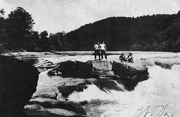 Valley Falls on The Tygart Valley River near Grafton, WV