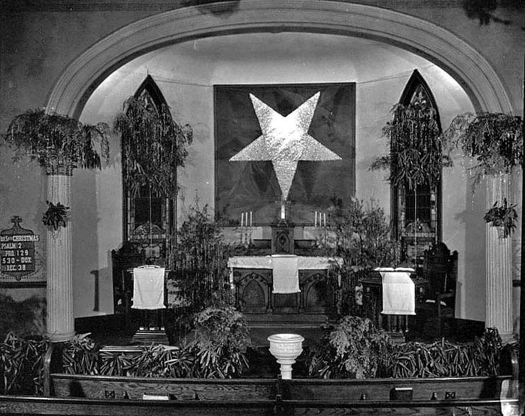 Decorated altar in a church in Grafton, W. Va.
