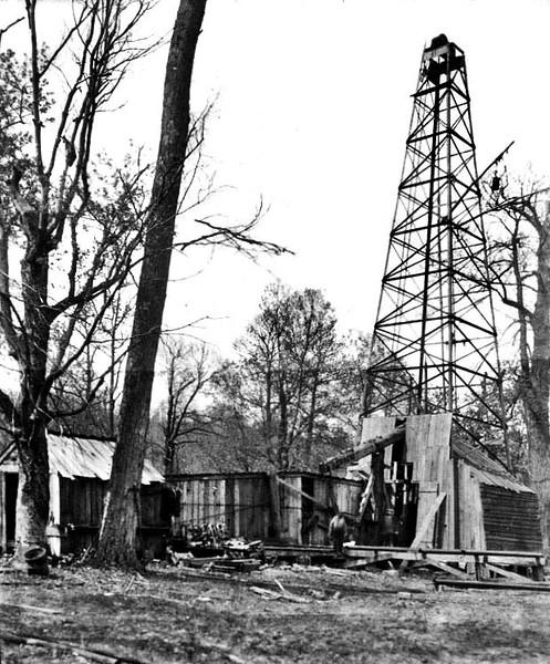 Oil Well near Grafton, W. Va.<br /> Date 1925