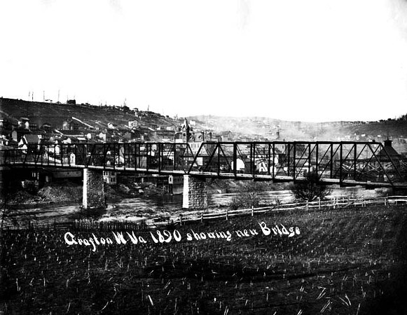 New Bridge at Grafton, W. Va.<br /> Date 1890