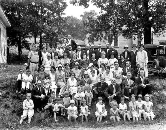 Family and Friends at a Gathering in Grafton, W. Va.