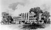 Drawing of Grafton City Hospital, in Grafton, West Virginia.